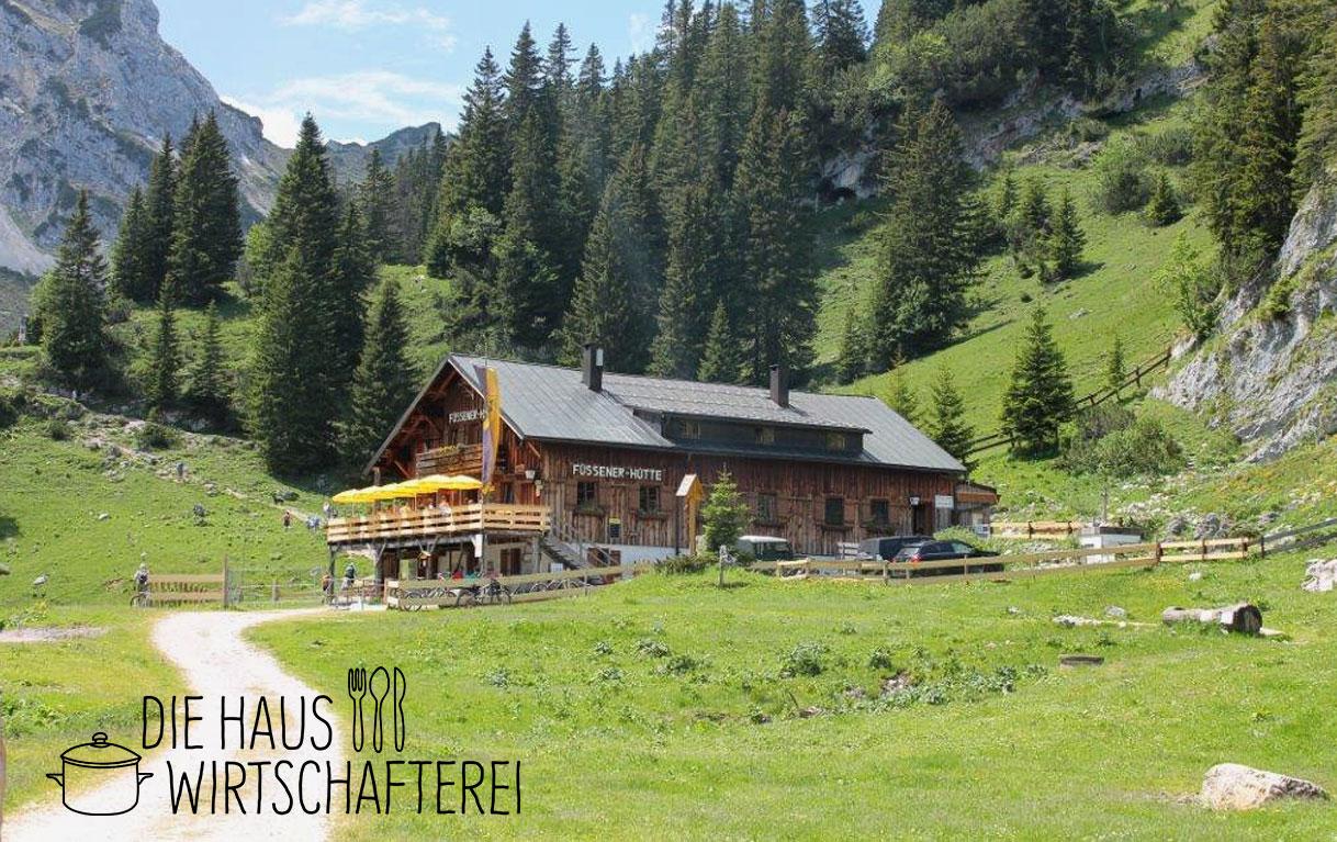 Die Füssener Hütte bei Reutte.
