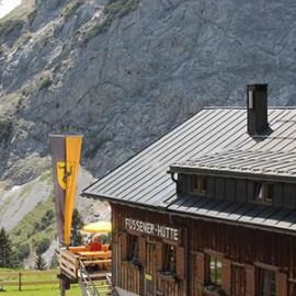 Berge, Brotzeit, Biergenuss – die FÜSSENER HÜTTE