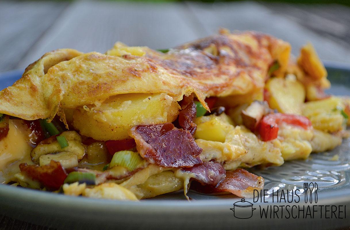 Bauernomlett mit Kartoffeln
