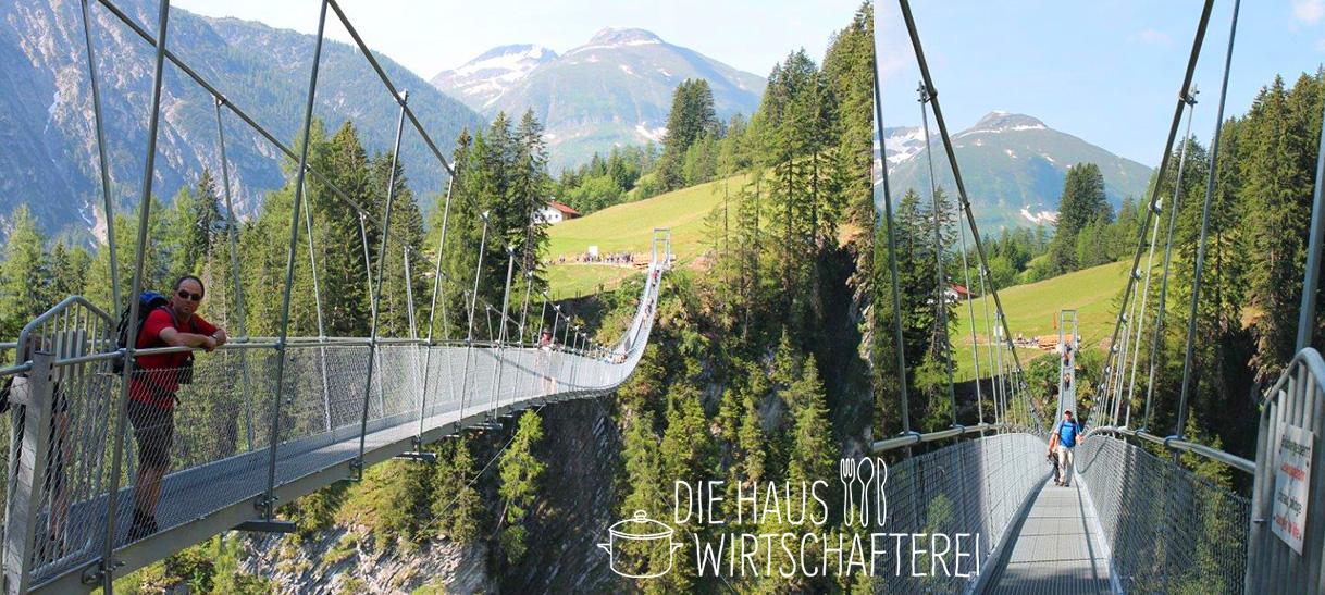 Wer traut sich über die Hängebrücke im Lechtal? Bauchkribbeln inklusive!