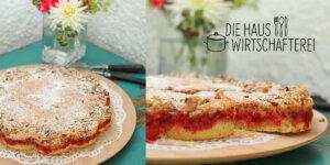 Torte mit Johannisbeeren und Nüssen
