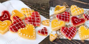 Weihnachtsplätzchen Wiener Herzen