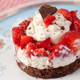 Weissbier, Schokolade und Erdbeeren zum VATERTAG