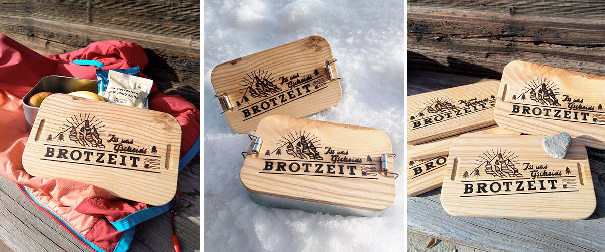 Brotdose Holzdeckel